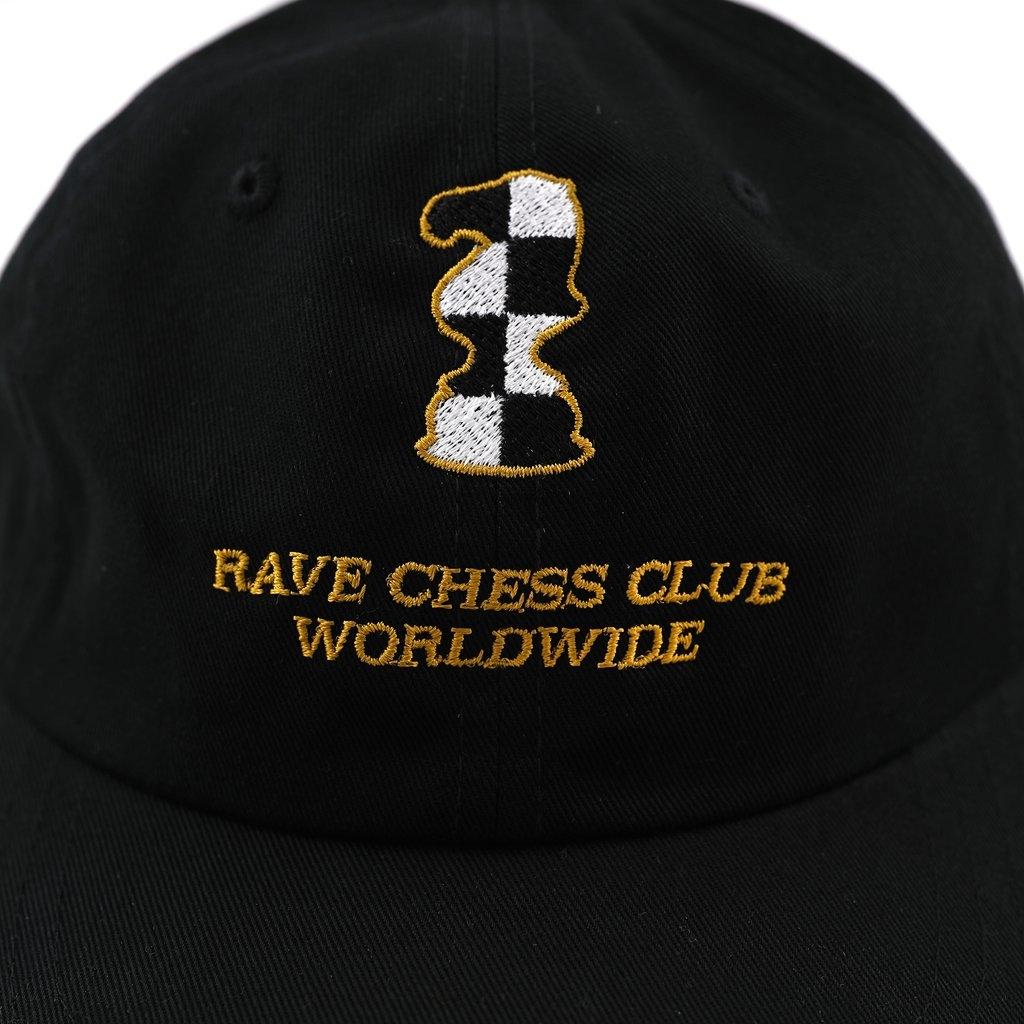 【RAVE SKATEBOARDS/レイブスケートボード】KASPAROV CAP ストラップバックキャップ / BLACK