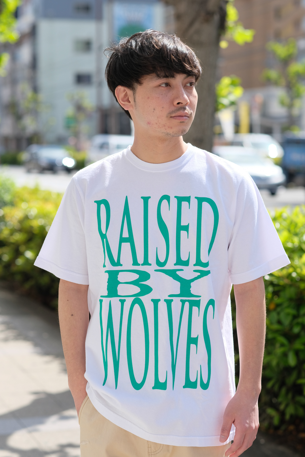 【RAISED BY WOLVES/レイズドバイウルブス】GATEWAY TEE Tシャツ / WHITE