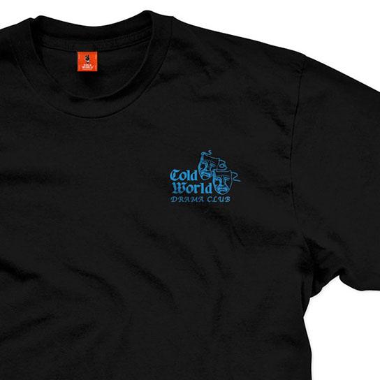 【COLD WORLD FROZEN GOODS/コールドワールドフローズングッズ】DRAMA CLUB T-SHIRT Tシャツ / BLACK