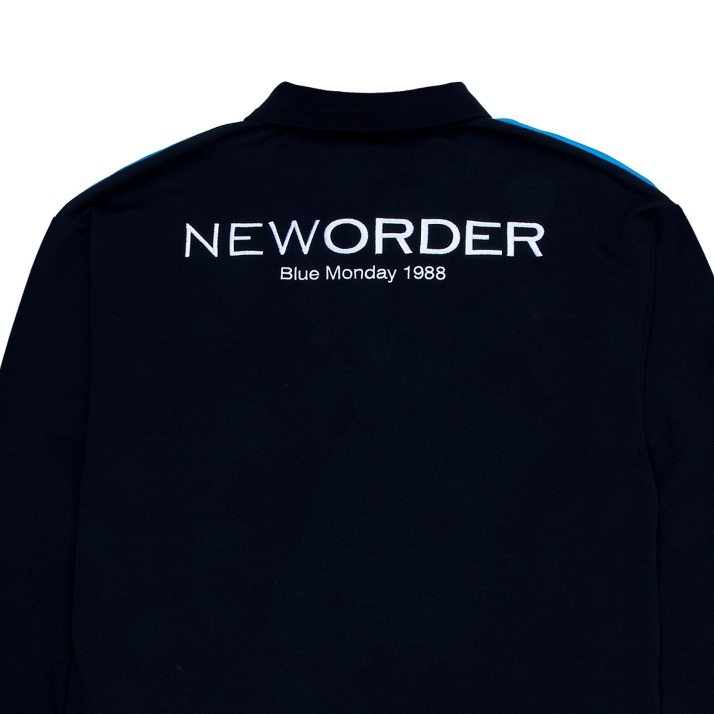 【PLEASURES/プレジャーズ×NEW ORDER/ニュー・オーダー】BLUE MONDAY POLO SHIRT ポロシャツ / BLACK