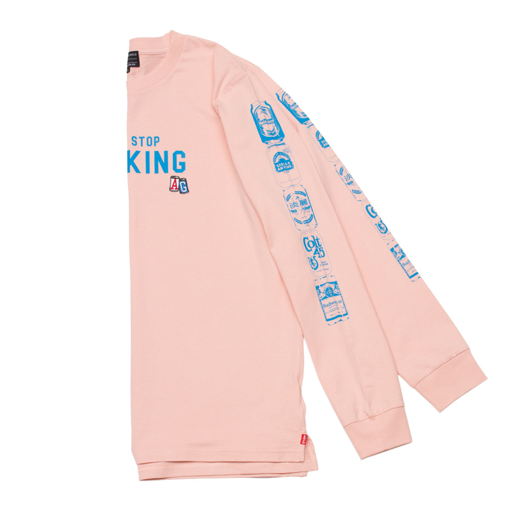 【ACAPULCO GOLD/アカプルコ ゴールド】BEER CAN LS TEE Tシャツ / PALE PINK