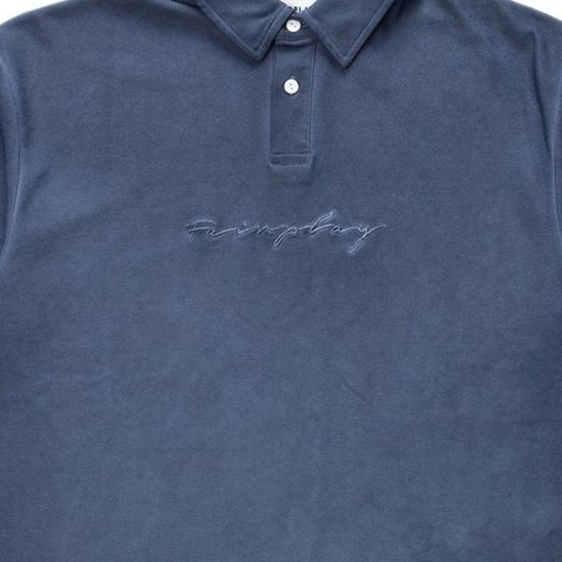 【FAIRPLAY BRAND/フェアプレイブランド】TAVIO ポロシャツ / BLUE