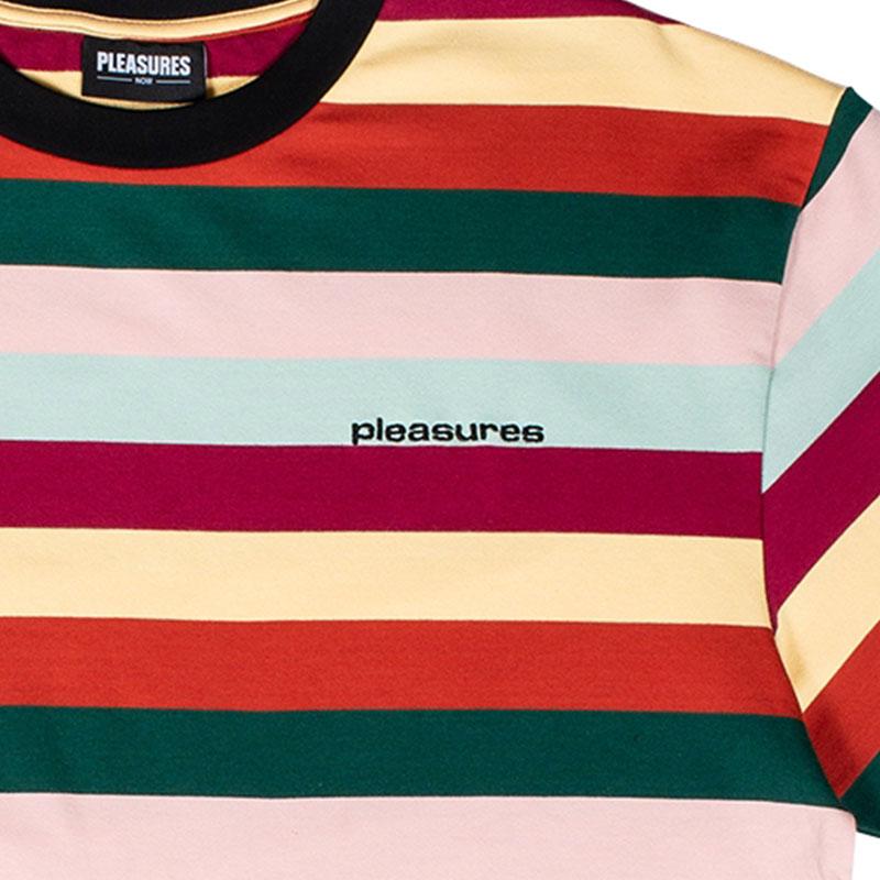【PLEASURES/プレジャーズ】INBOX STRIPED SHIRT カットソーTシャツ / PALE