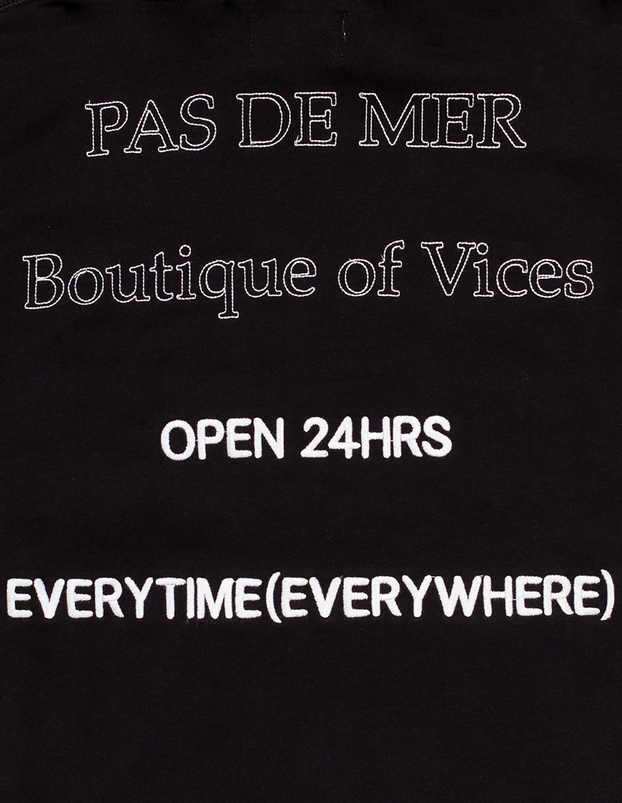 【PAS DE MER/パドゥメ】B.O.V. HOODY  パーカー / BLACK