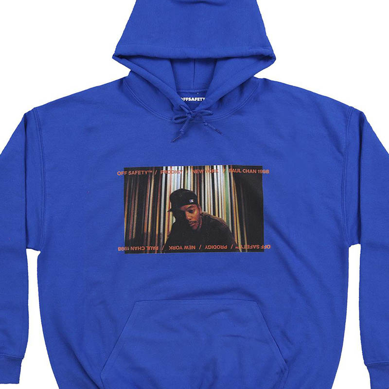【OFF SAFETY/オフセーフティー】INFAMOUS HOODIE パーカー / BLUE