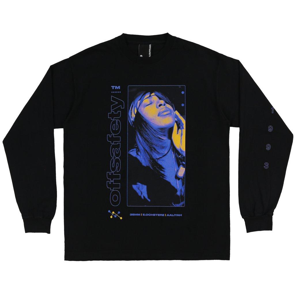 【OFF SAFETY/オフセーフティー】AALIYAH SUNKIST L/S TEE ロングTシャツ / BLACK