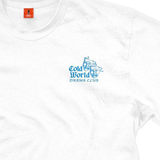 【COLD WORLD FROZEN GOODS/コールドワールドフローズングッズ】DRAMA CLUB T-SHIRT Tシャツ / WHITE