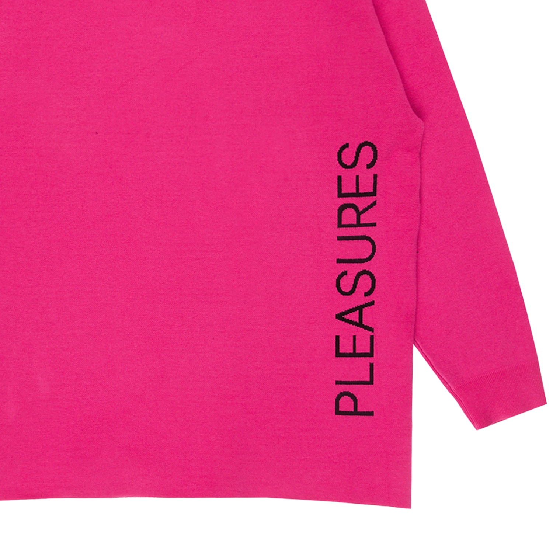 【PLEASURES/プレジャーズ×NEW ORDER/ニュー・オーダー】LOWLIFE JACQUARD SWEATER セーター / PINK