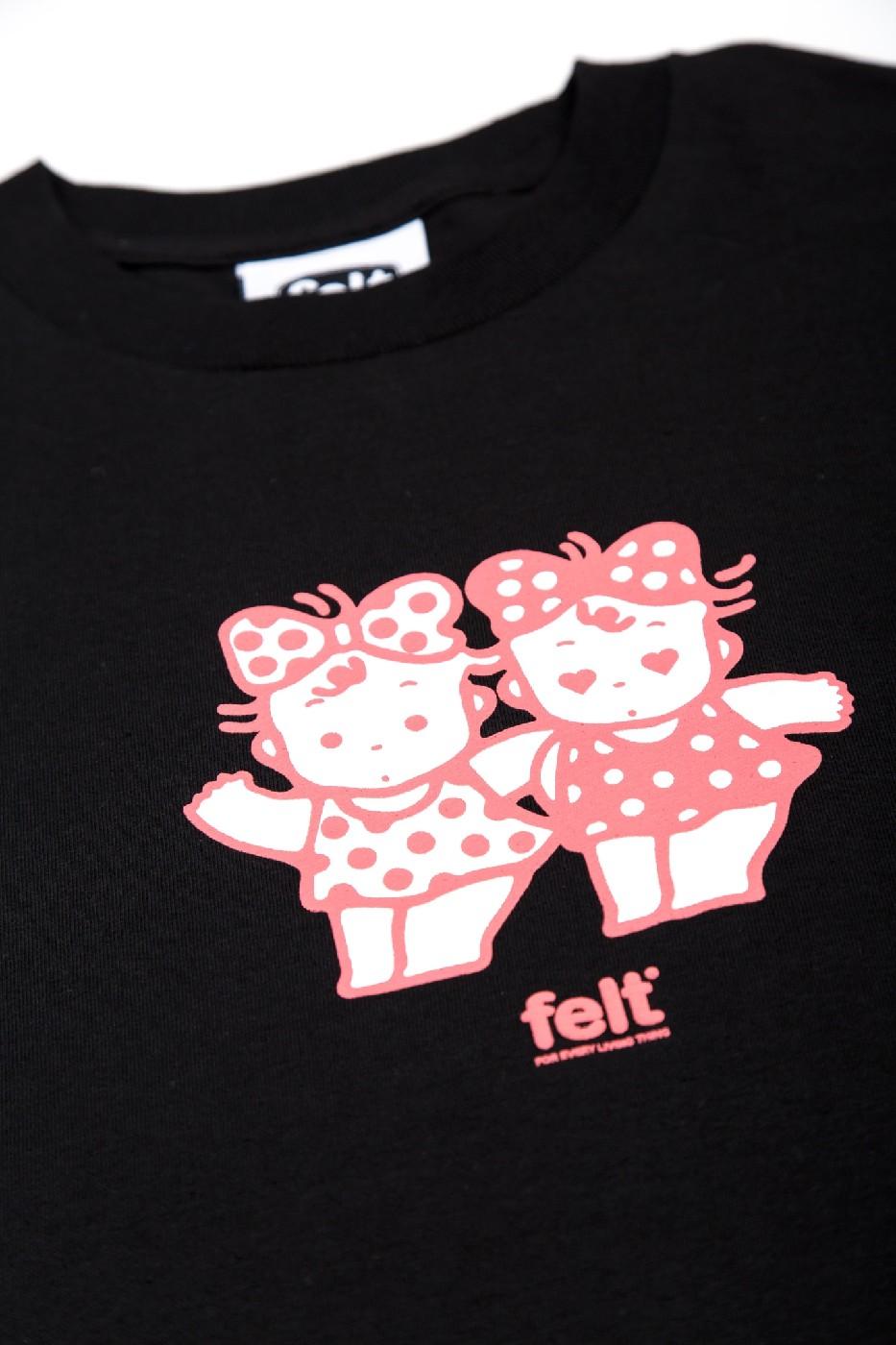 【FELT/フェルト】SHIBUYA TWINS T-SHIRT Tシャツ / BLK