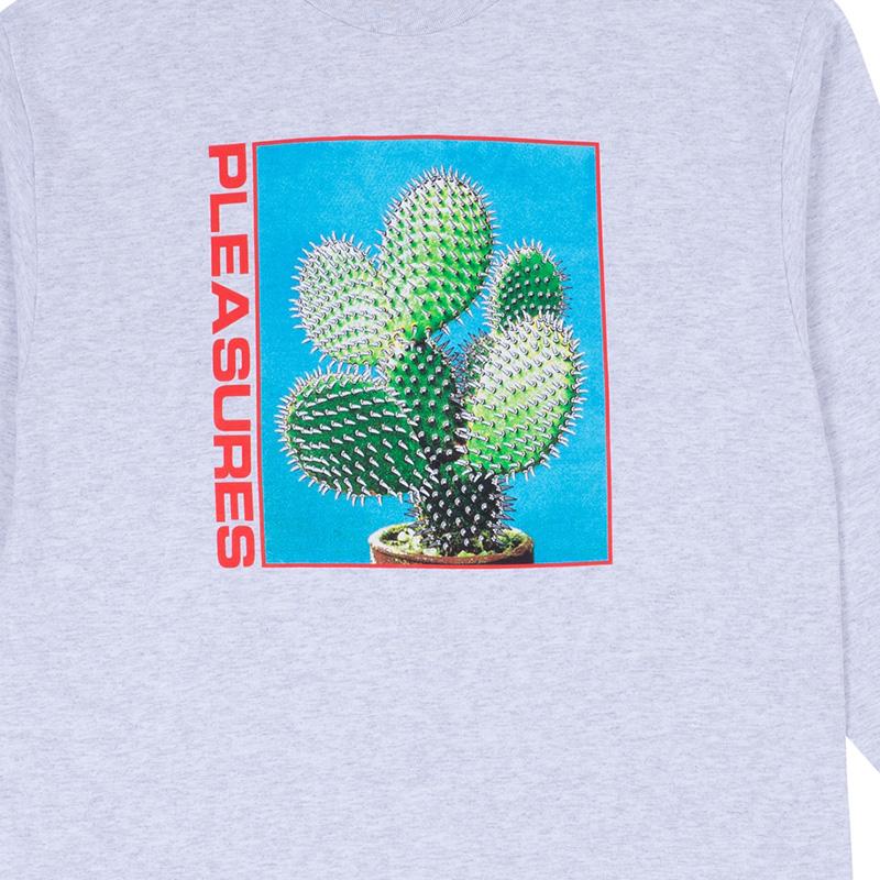 【PLEASURES/プレジャーズ】SPIKE LONG SLEEVE T-SHIRT ロングTシャツ / ASH GREY