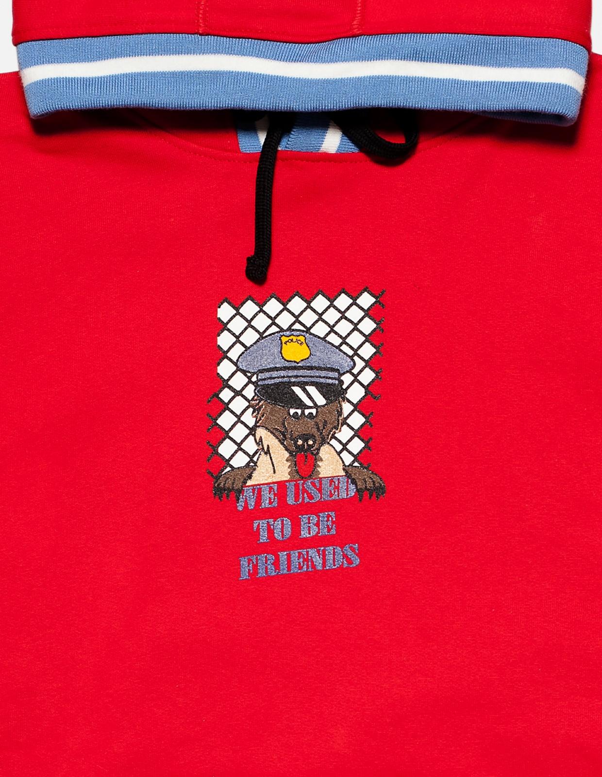 【PAS DE MER/パドゥメ】BEST FRIEND HOODY パーカー / OLD RED