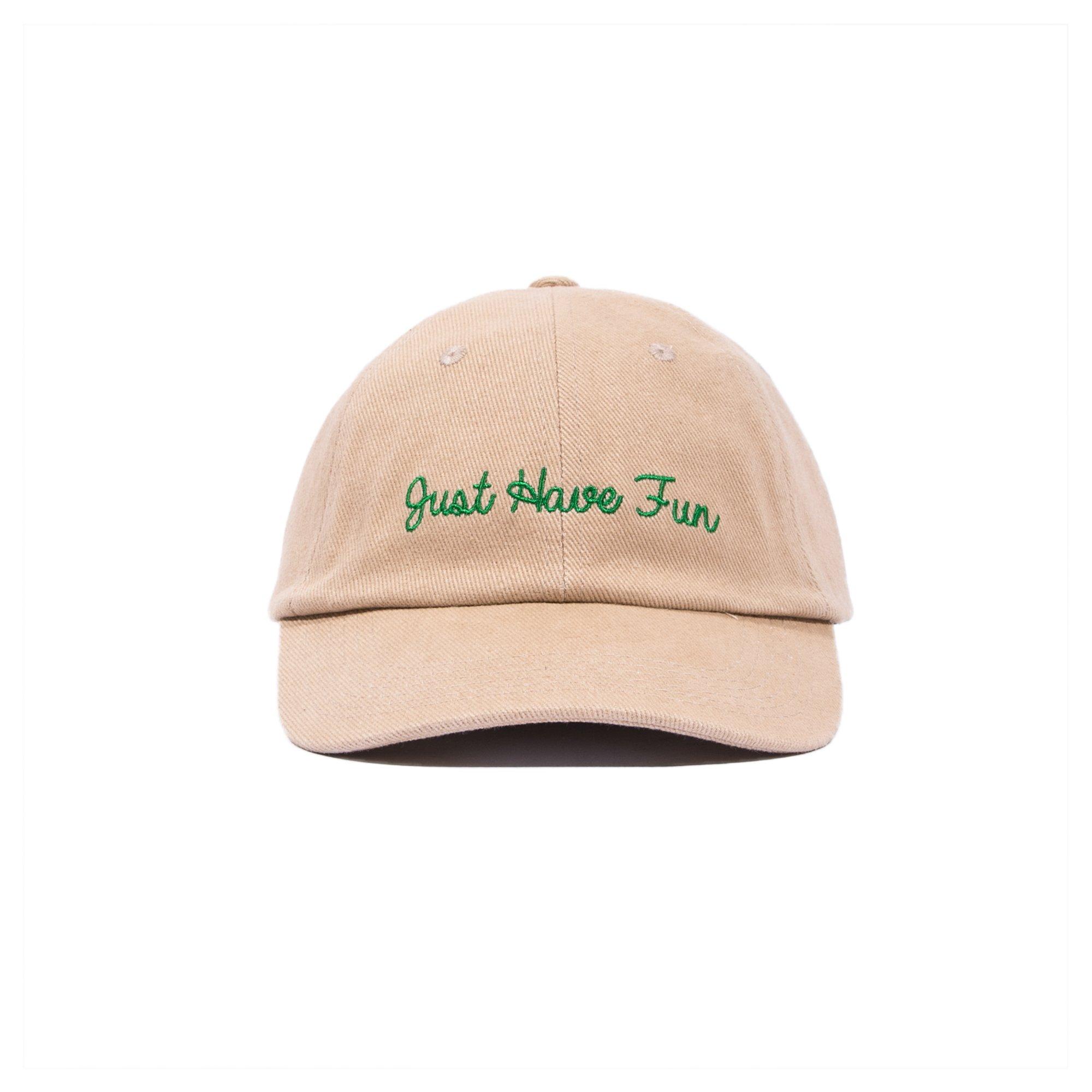 【JUST HAVE FUN/ジャストハブファン】JHFAMILY DAD HAT ダドハット / KHAKI