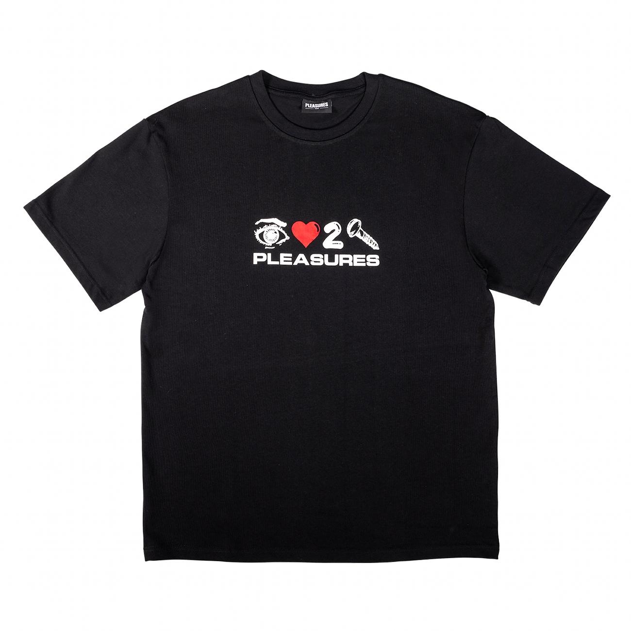 【PLEASURES/プレジャーズ】SCREW OVERSIZED HEAVY WEIGHT SHIRT カットソーTシャツ / BLACK