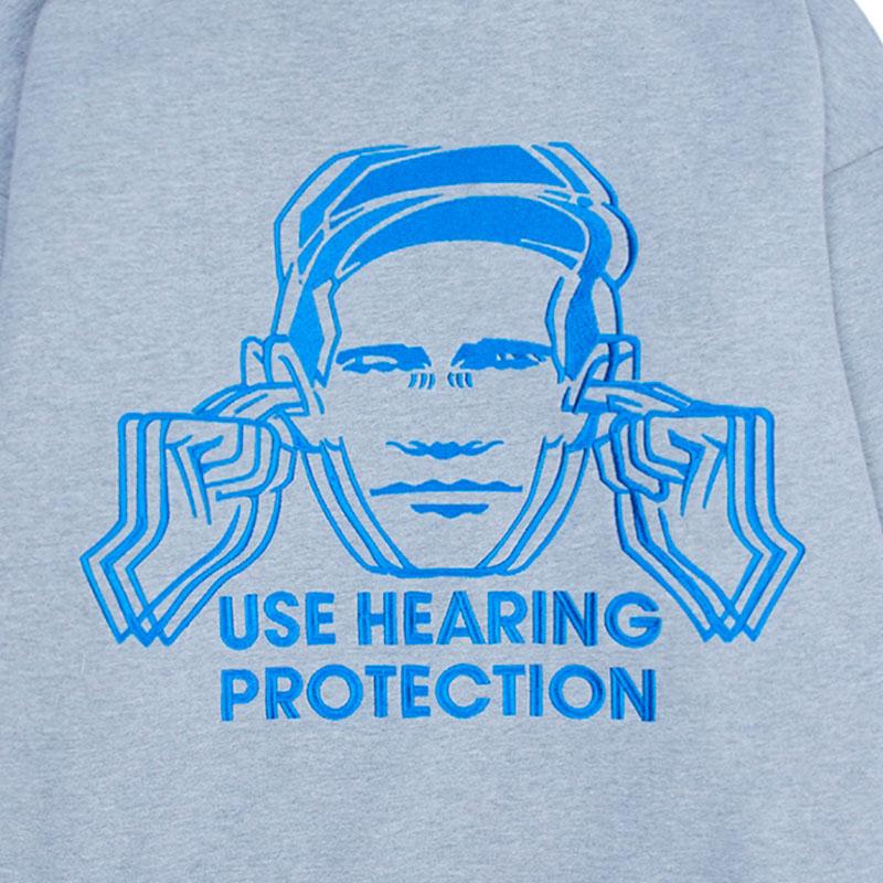 【PLEASURES/プレジャーズ×NEW ORDER/ニュー・オーダー】PROTECTION HOODY パーカー / HEATHER GREY