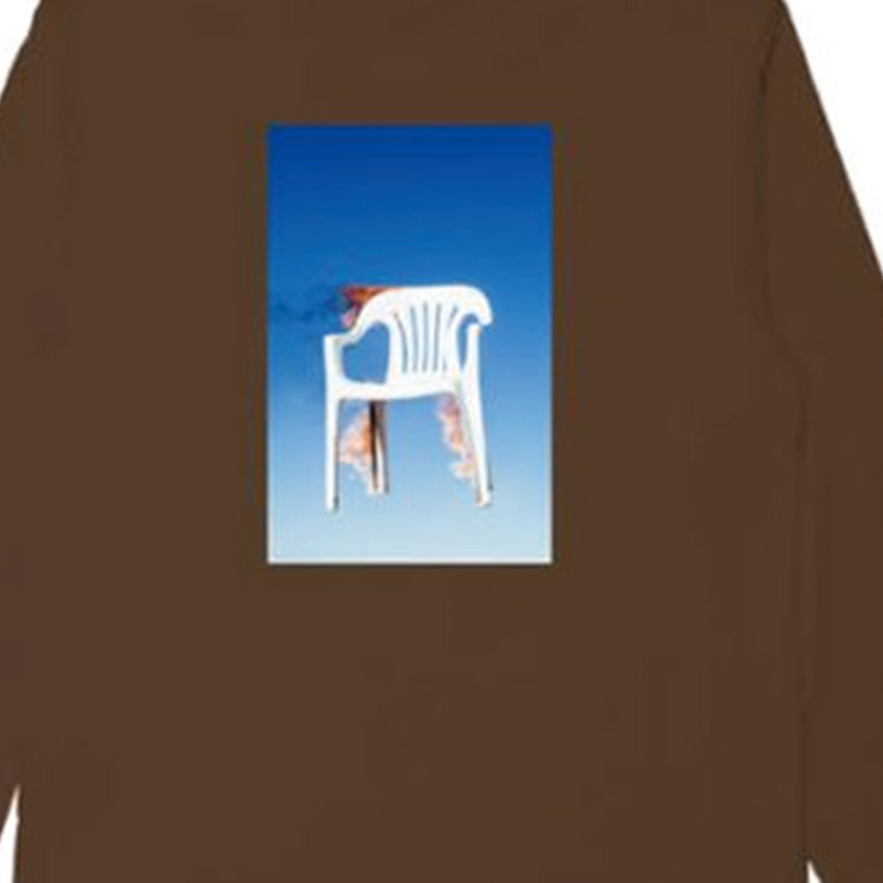【PLEASURES/プレジャーズ】CHAIR LONG SLEEVE T-SHIRT ロングTシャツ / COFFEE