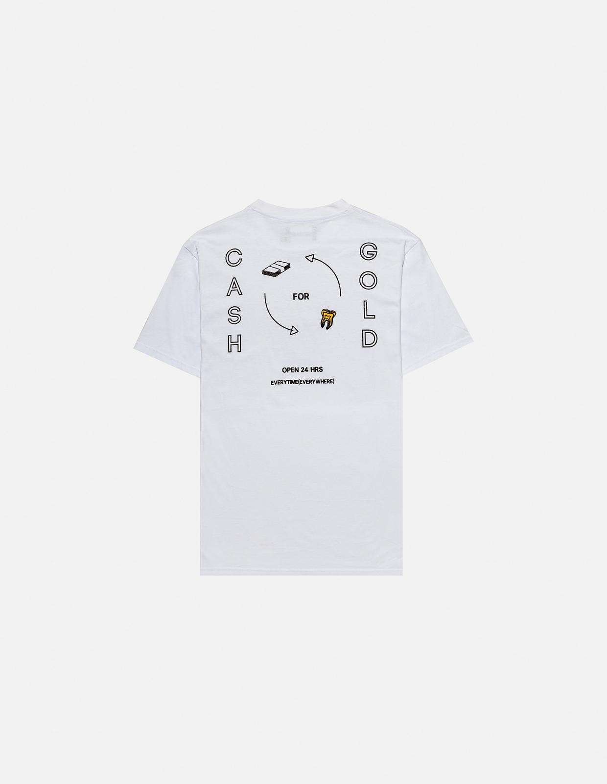 【PAS DE MER/パドゥメ】CASHGOLD T-SHIRT Tシャツ / WHITE