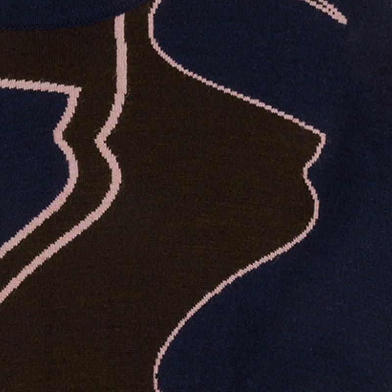 【PAS DE MER/パドゥメ】FOOTBALL JAQUARD KNIT ニットセーター / PATTERN