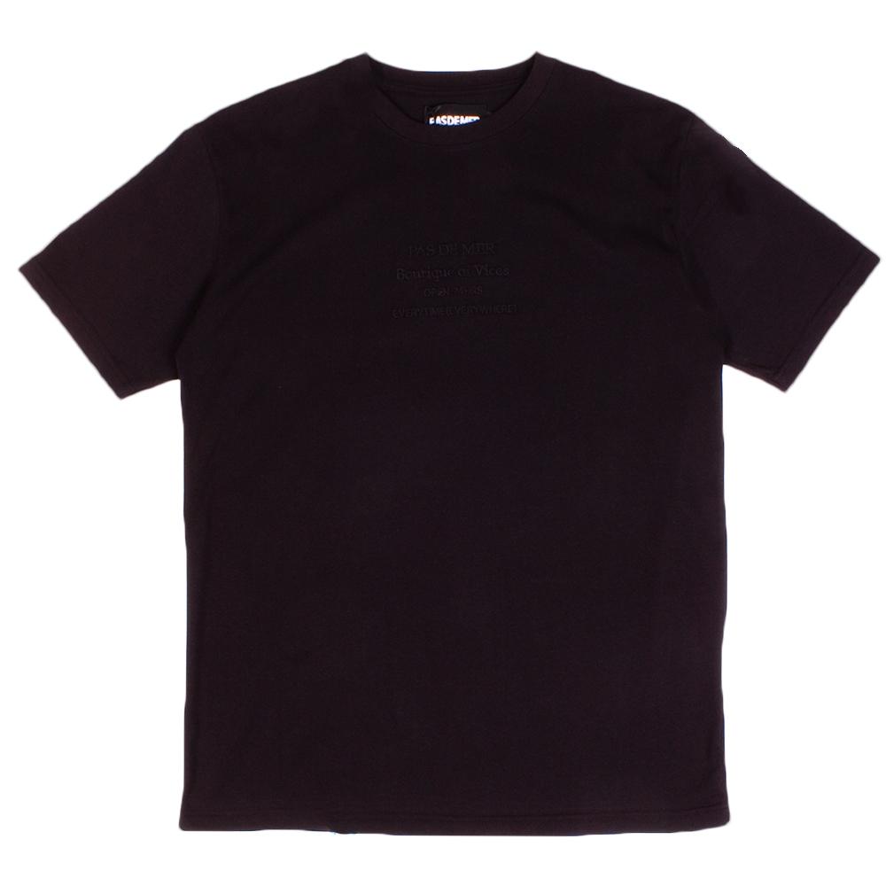 【PAS DE MER/パドゥメ】CASHGOLD T-SHIRT Tシャツ / BLACK
