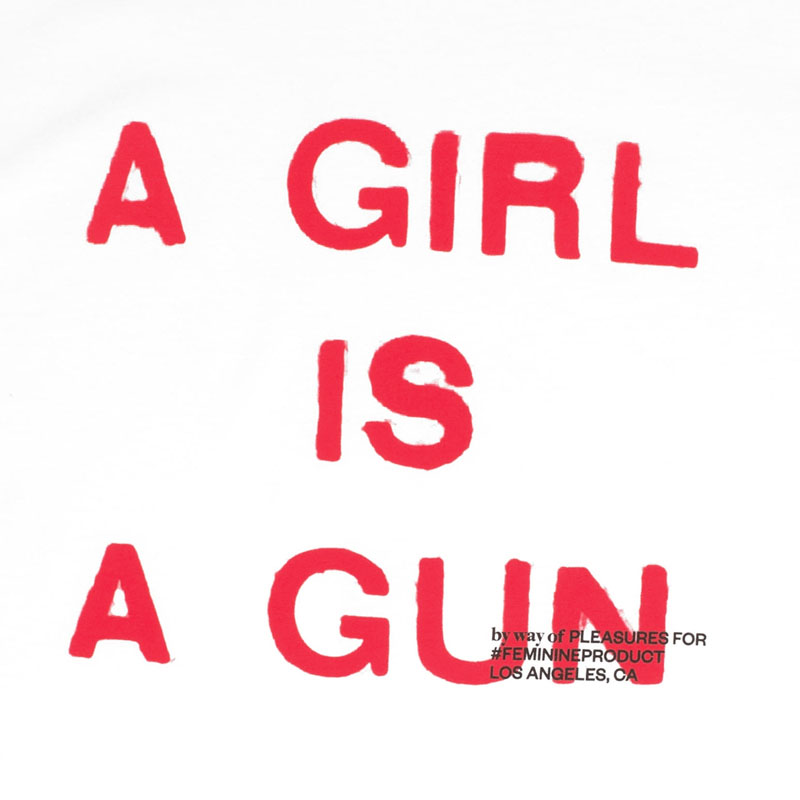 【PLEASURES/プレジャーズ】GIRL IS A GUN T-SHIRT Tシャツ / WHITE
