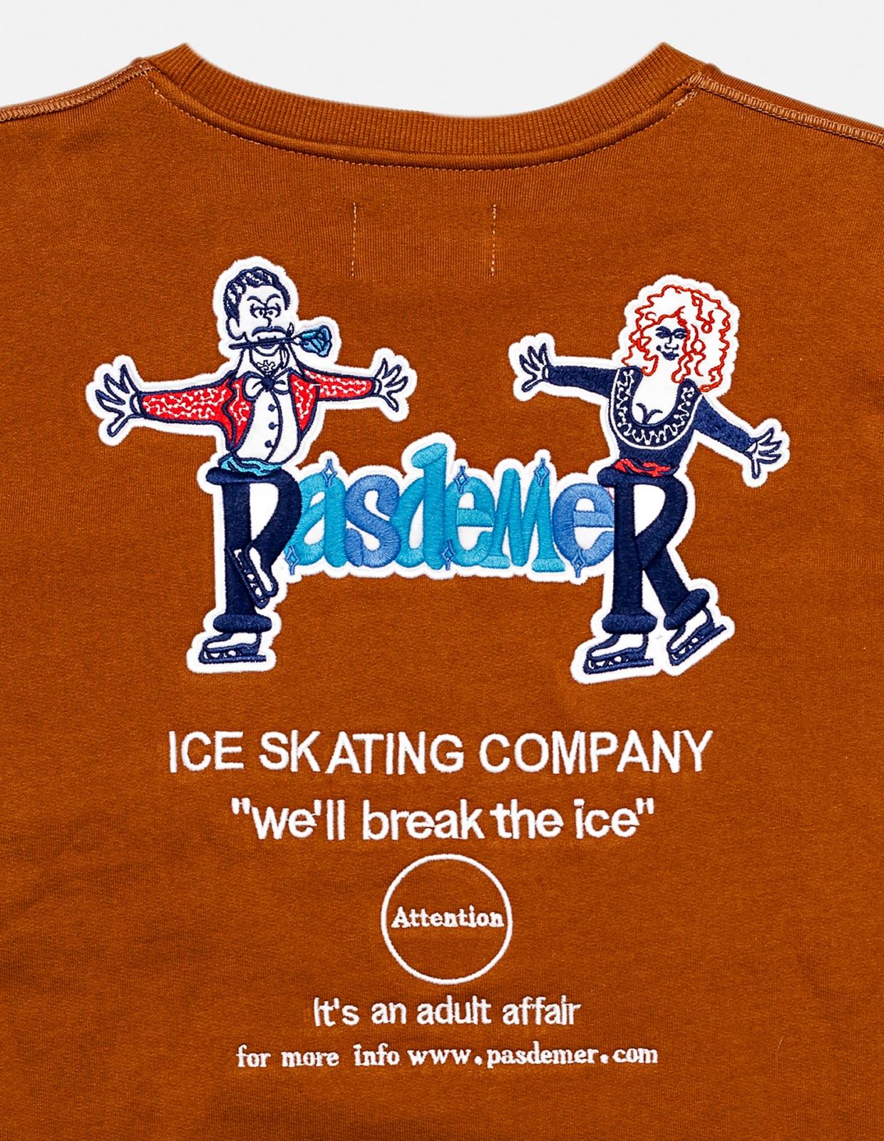 【PAS DE MER/パドゥメ】ICE SWEATSHIRT クルーネックスウェット / BROWN