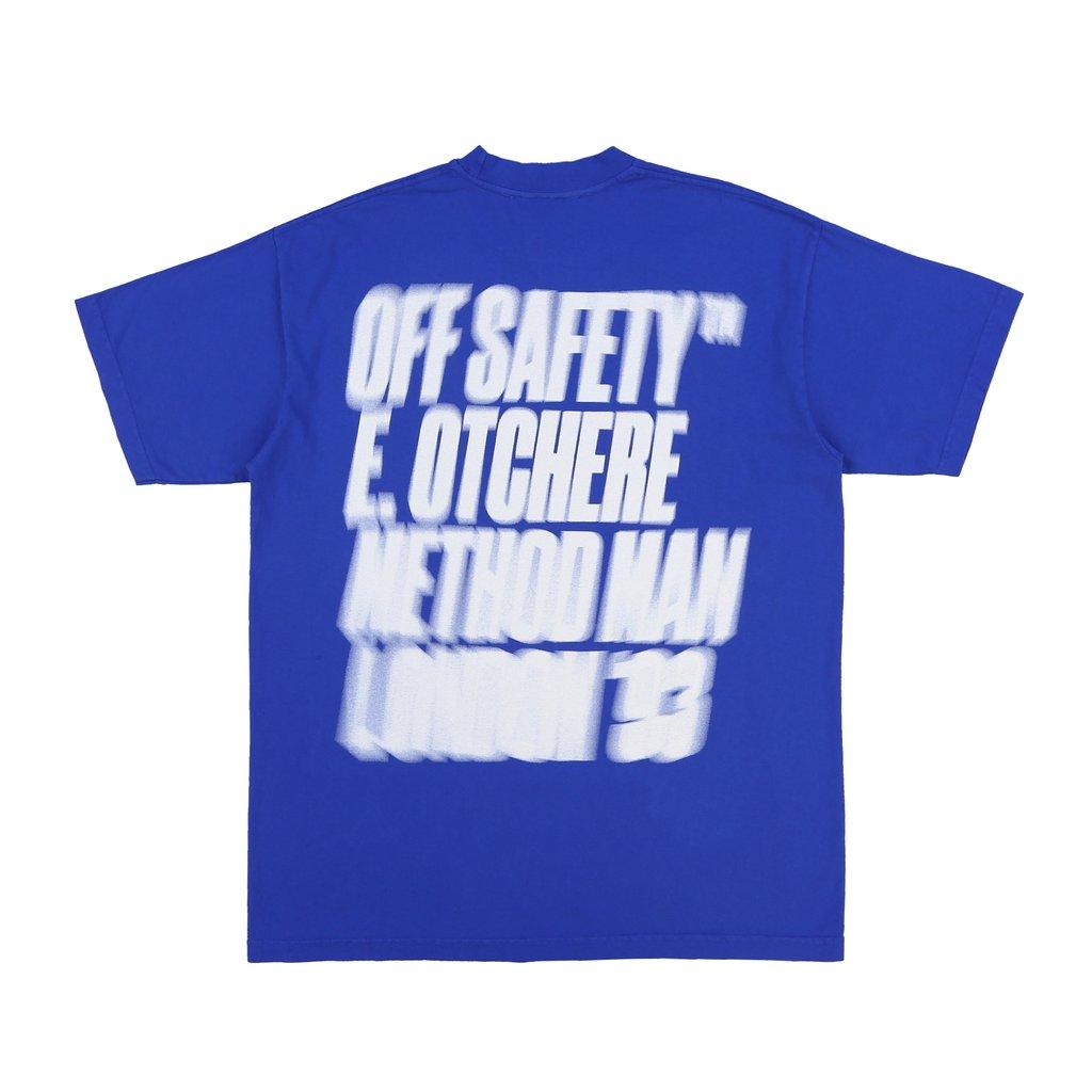 【OFF SAFETY/オフセーフティー】BLUNT WRAP TEE Tシャツ / BLUE