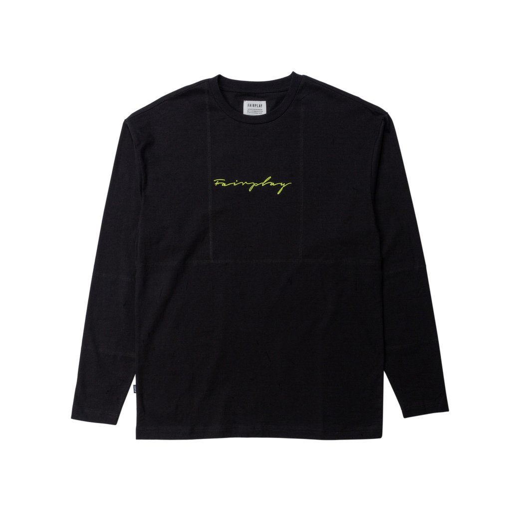 【FAIRPLAY BRAND/フェアプレイブランド】JAVEN 半袖カットソー / BLACK