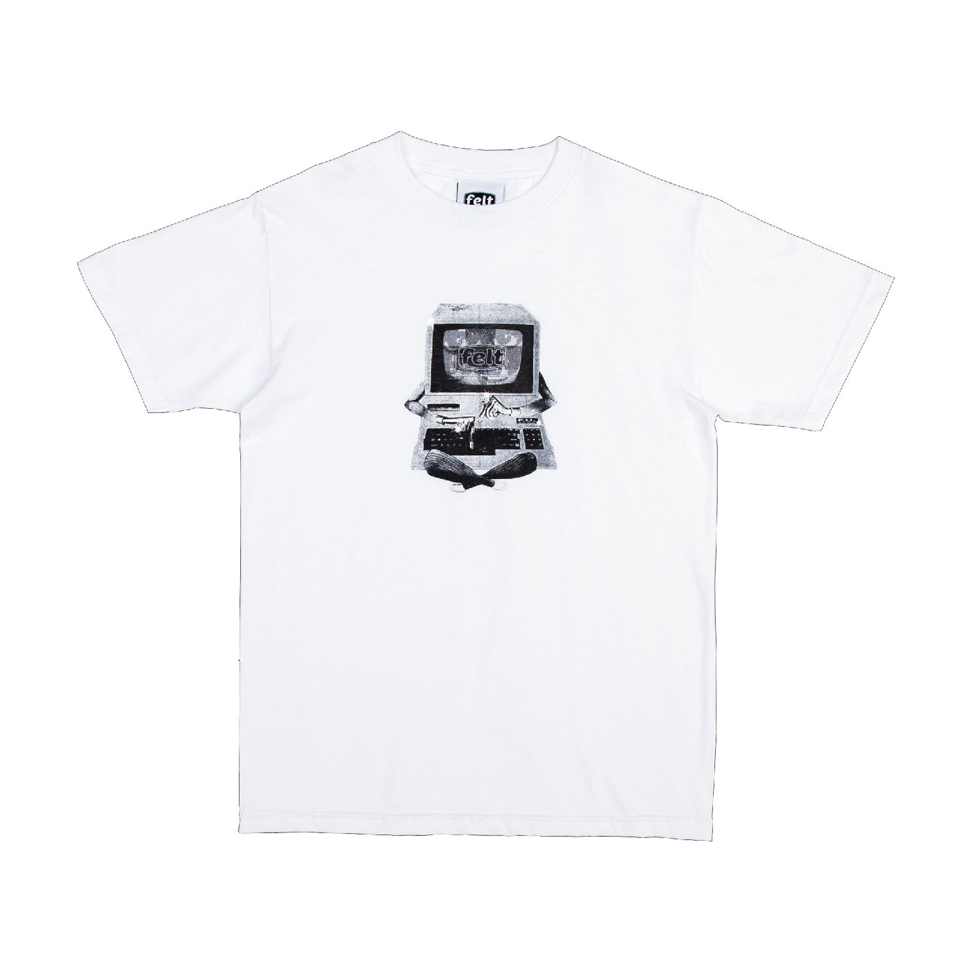 【FELT/フェルト】DIAL UP T-SHIRT Tシャツ / WHT
