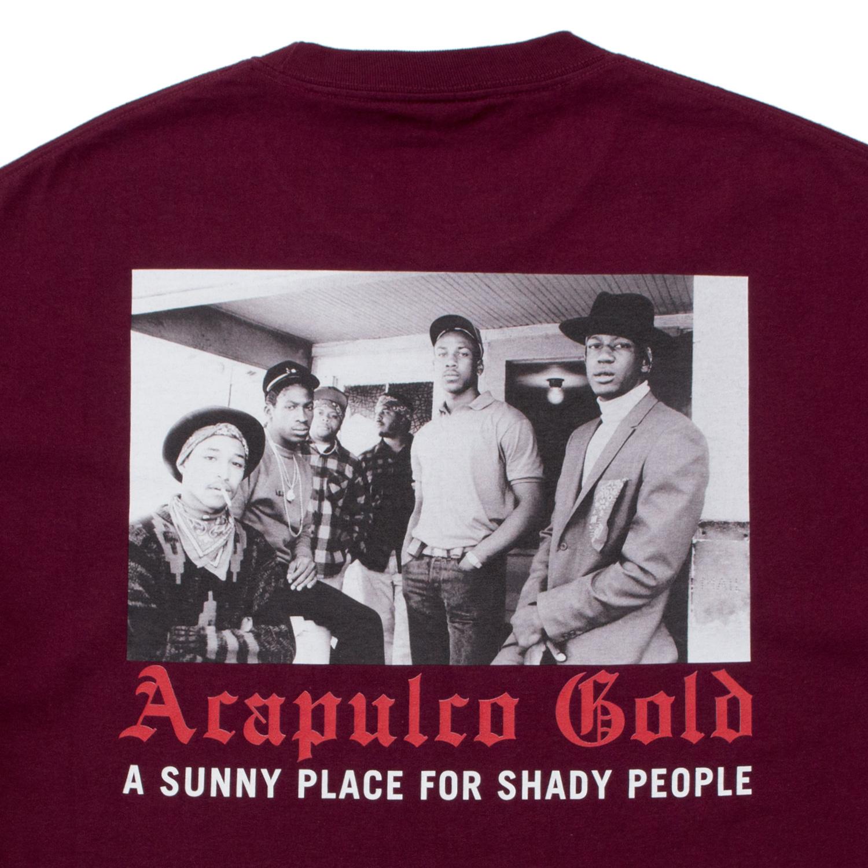 【ACAPULCO GOLD/アカプルコ ゴールド】MADE IN USA (PT.2) TEE Tシャツ / BURGUNDY