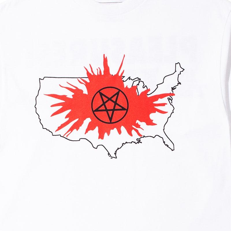 【PLEASURES/プレジャーズ】PANIC LONG SLEEVE T-SHIRT ロングTシャツ / WHITE
