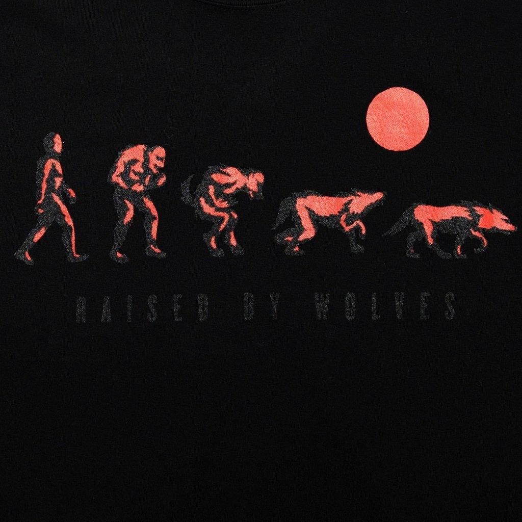 【RAISED BY WOLVES/レイズドバイウルブス】EVOLUTION TEE Tシャツ / BLACK