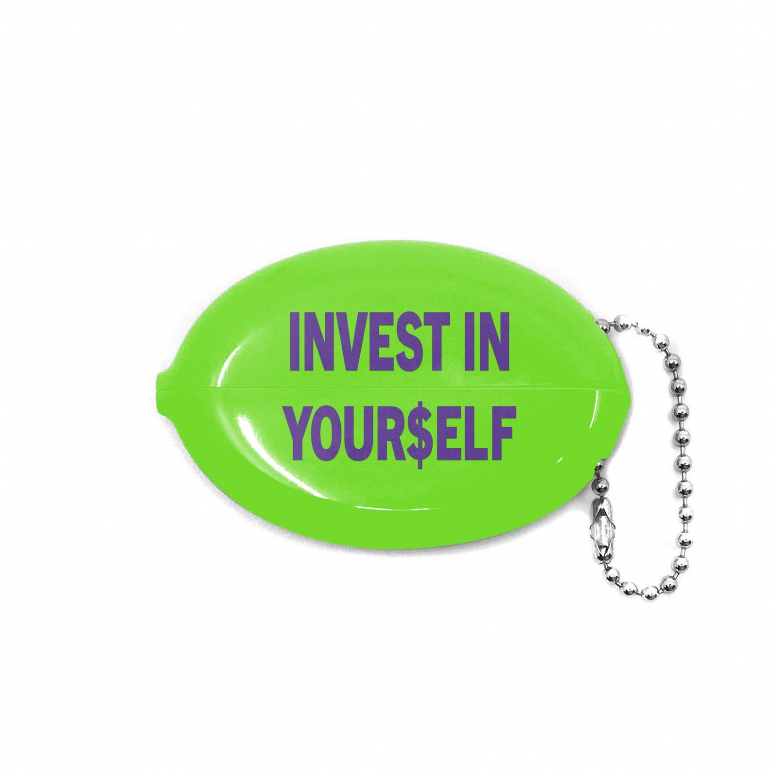 【COLD WORLD FROZEN GOODS/コールドワールドフローズングッズ】INVESTMENT SOUEEZY COIN POUCH ビニールコインポーチ / GREEN