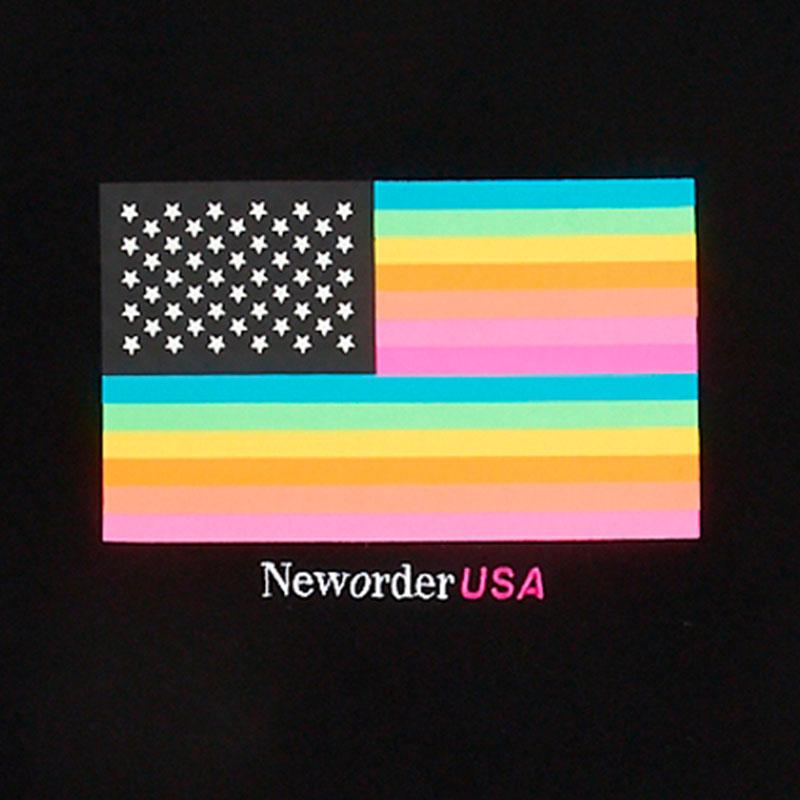 【PLEASURES/プレジャーズ×NEW ORDER/ニュー・オーダー】CONCERT HEAVYWEIGHT SHIRT Tシャツ / BLACK