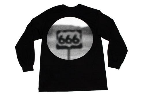 【PLEASURES/プレジャーズ】HIGHWAY LONG SLEEVE T-SHIRT ロングTシャツ / BLACK