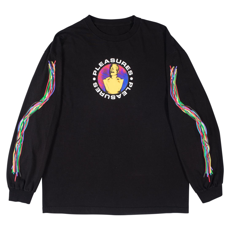【PLEASURES/プレジャーズ】TAIKAN LONG SLEEVE SHIRT ロングTシャツ / BLACK