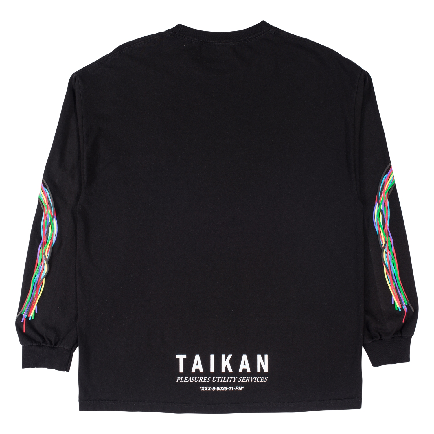 【PLEASURES/プレジャーズ】TAIKAN LONG SLEEVE SHIRT ロングTシャツ / BLACK