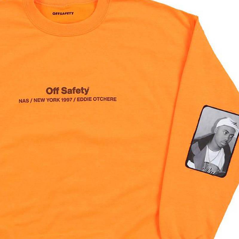 【OFF SAFETY/オフセーフティー】MADE YOU LOOK CREW クルースウェット / ORANGE