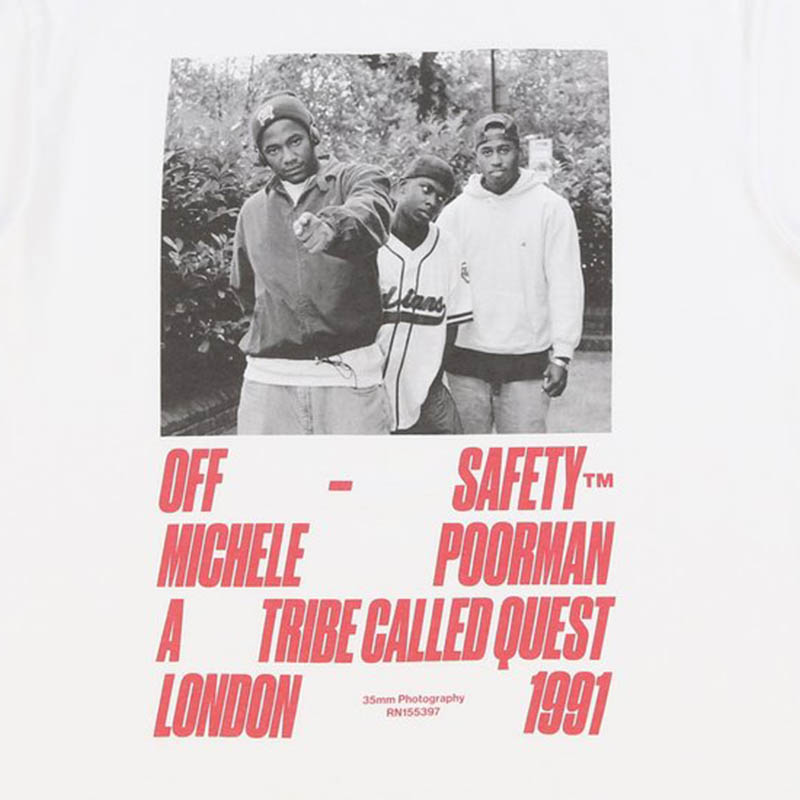 【OFF SAFETY/オフセーフティー】CHECK THE RHYME TEE Tシャツ / WHITE