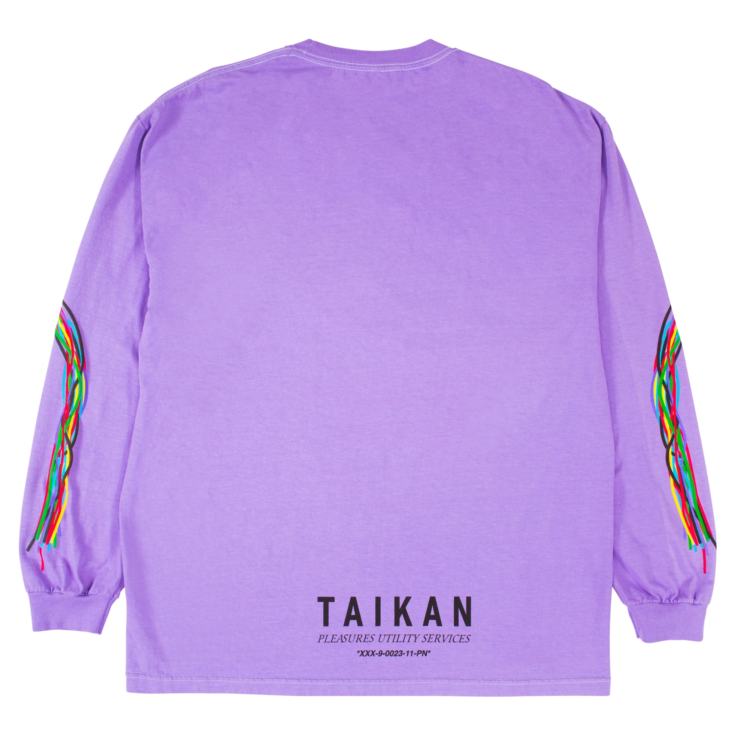 【PLEASURES/プレジャーズ】TAIKAN LONG SLEEVE SHIRT ロングTシャツ / VIOLET