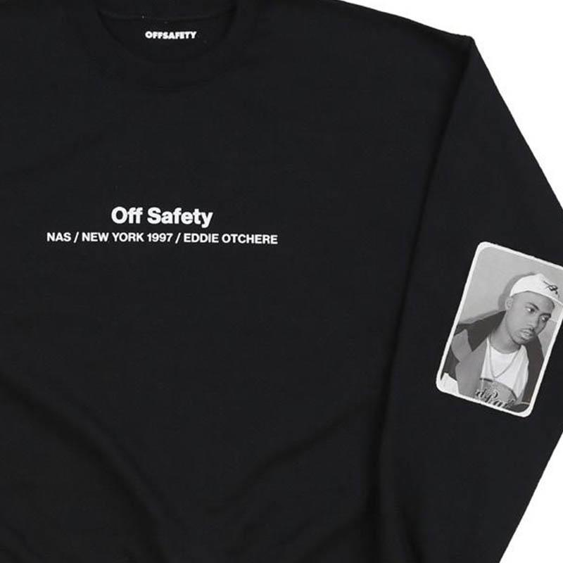 【OFF SAFETY/オフセーフティー】MADE YOU LOOK CREW クルースウェット / BLACK