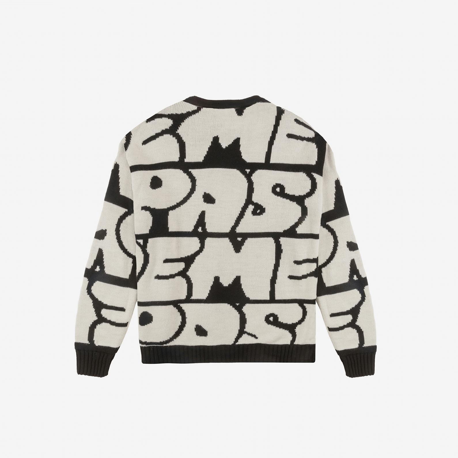 【PAS DE MER/パドゥメ】GRAFFITI JAQUARD KNIT ニットセーター / PATTERN