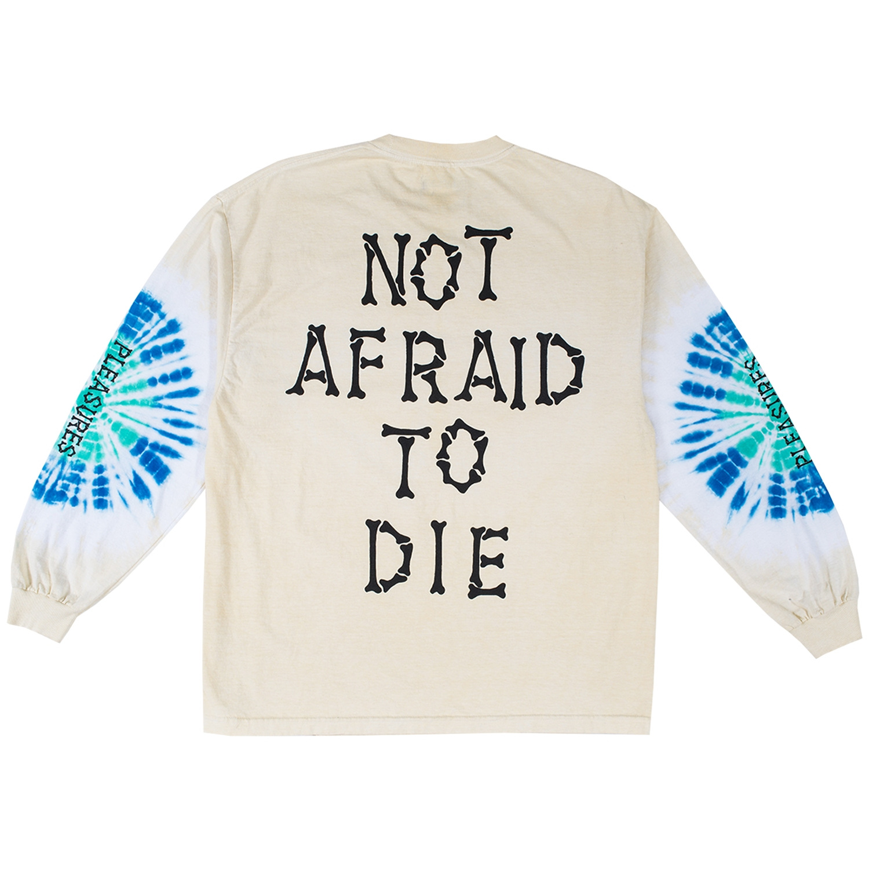 【PLEASURES/プレジャーズ】NOT AFRAID TYE DYE LONG SLEEVE ロングTシャツ / CREME