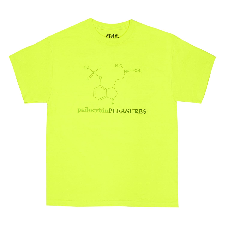 【PLEASURES/プレジャーズ】PSILOCYBIN T-SHIRT Tシャツ / SAFETY GREEN