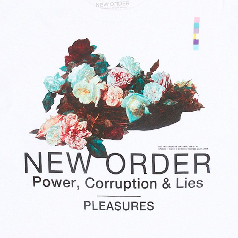 【PLEASURES/プレジャーズ×NEW ORDER/ニュー・オーダー】POWER LONG SLEEVE T-SHIRT 長袖Tシャツ / WHITE