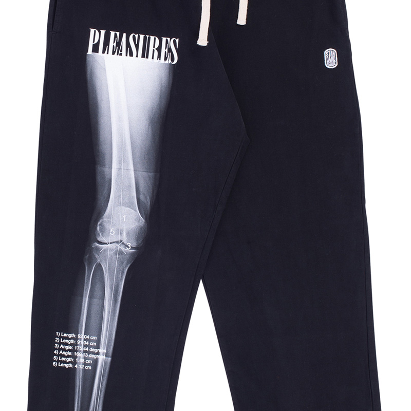 【PLEASURES/プレジャーズ】STANDARD ISSUE XRAY BEACH PANT バギーコットンビーチパンツ / BLACK