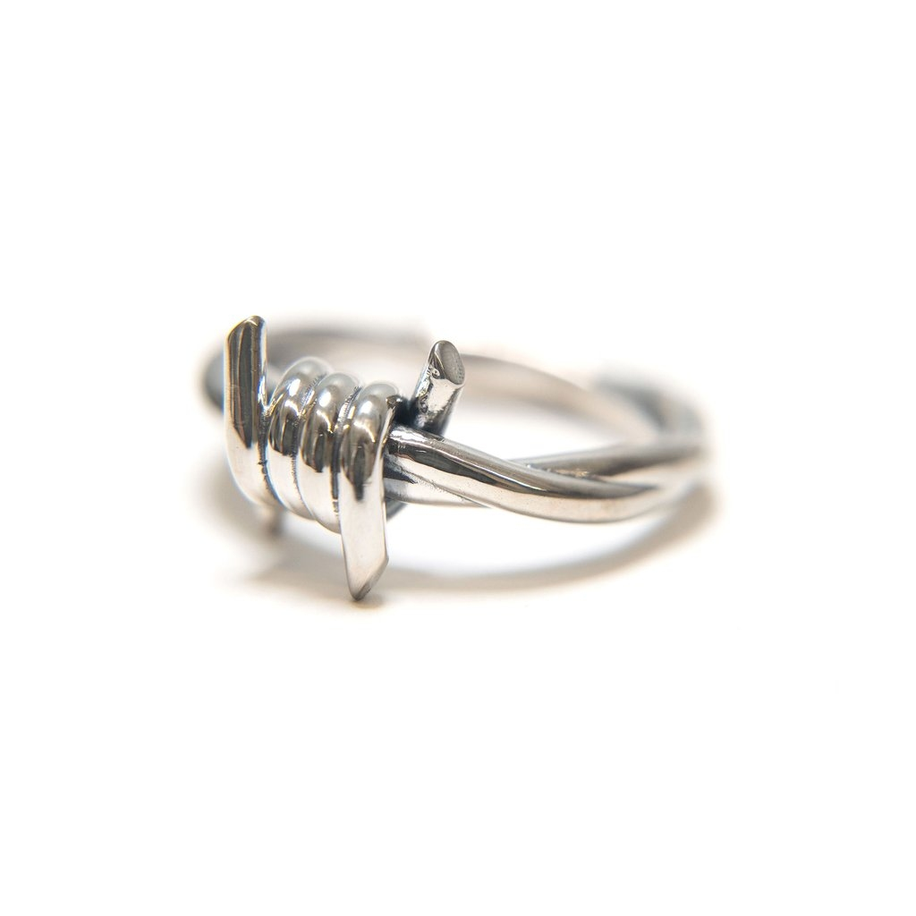 【RAISED BY WOLVES/レイズドバイウルブス】BARB WIRE RING (6-13) リング / STERLING SILVER