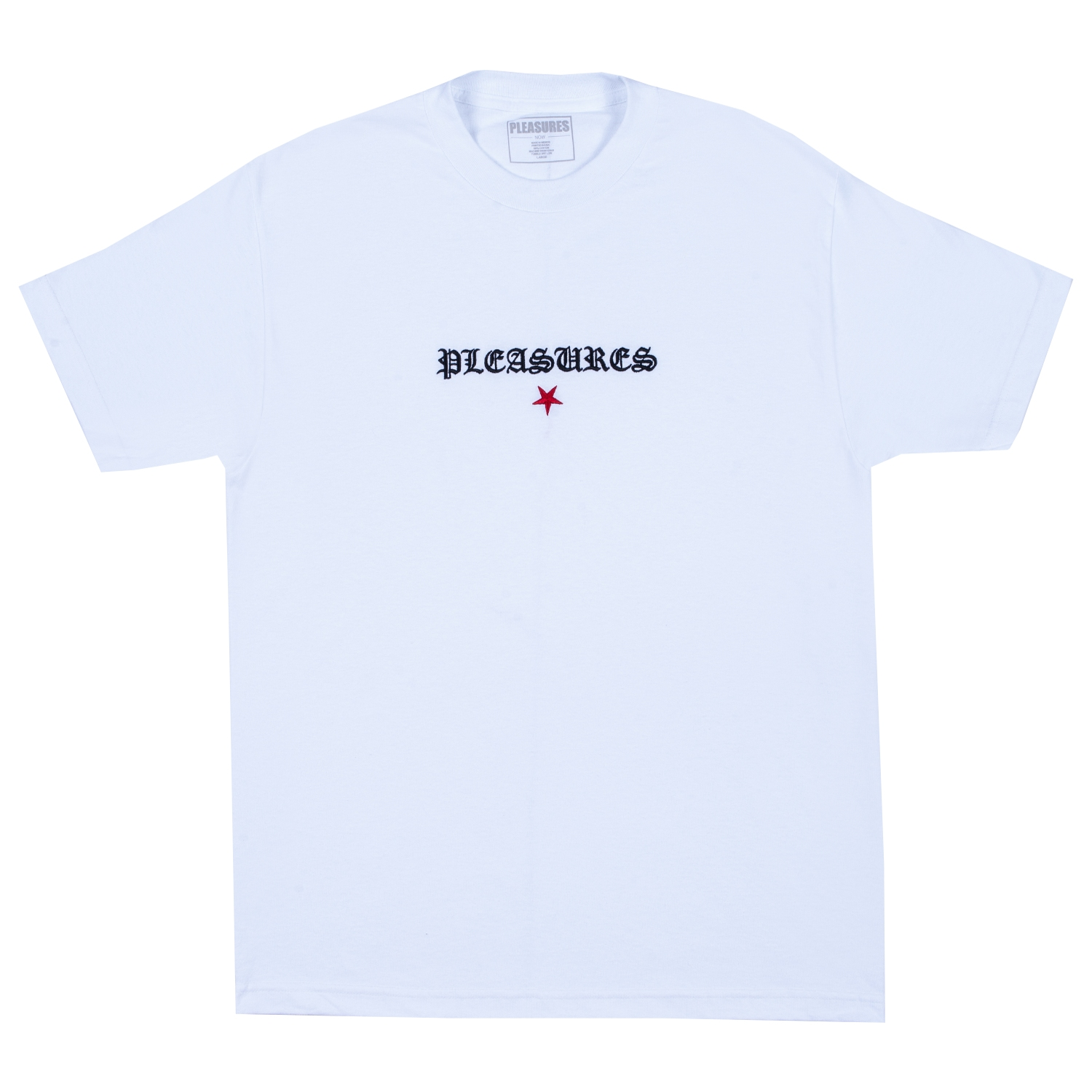 【PLEASURES/プレジャーズ】SHINE EMBROIDERED T-SHIRT Tシャツ / WHITE
