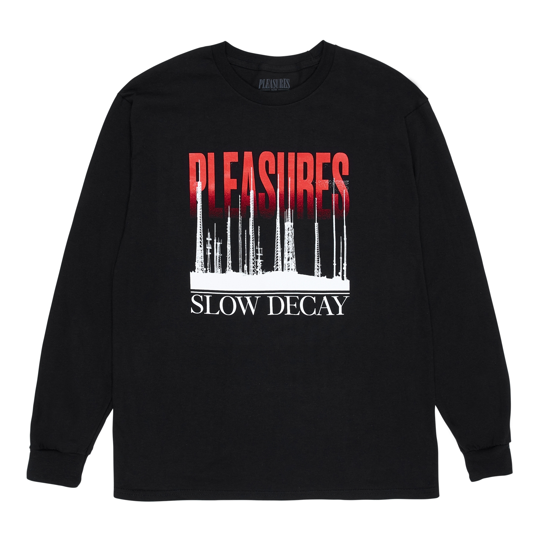 【PLEASURES/プレジャーズ】MIRRORS LONG SLEEVE T-SHIRT 長袖Tシャツ / BLACK