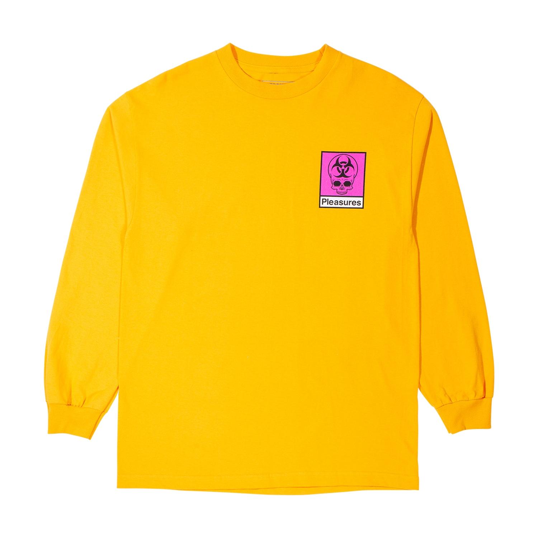 【PLEASURES/プレジャーズ】BIOHAZARD LONG SLEEVE T-SHIRT ロングTシャツ / GOLD
