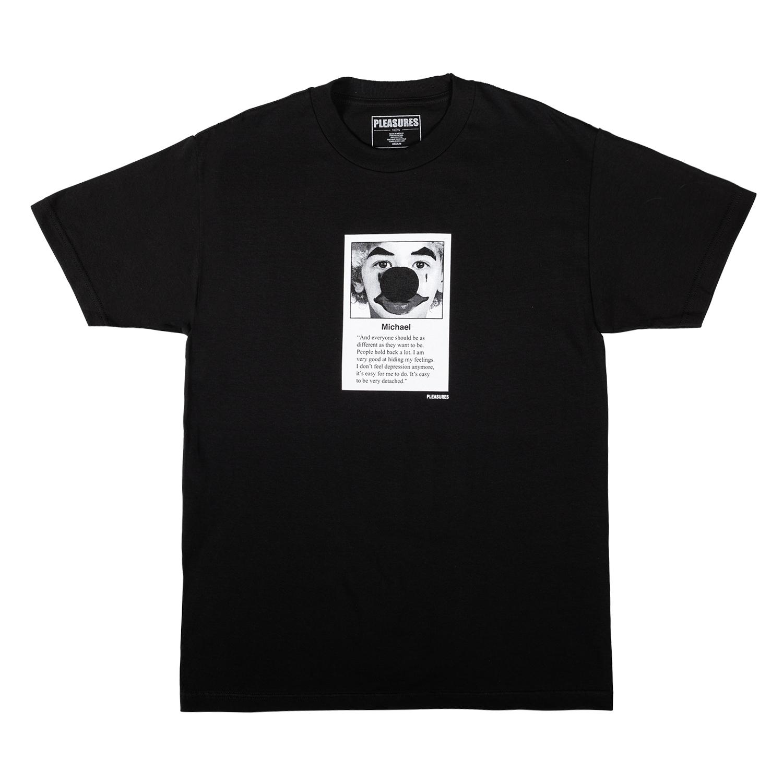 【PLEASURES/プレジャーズ】MICHAEL T-SHIRT Tシャツ / BLACK
