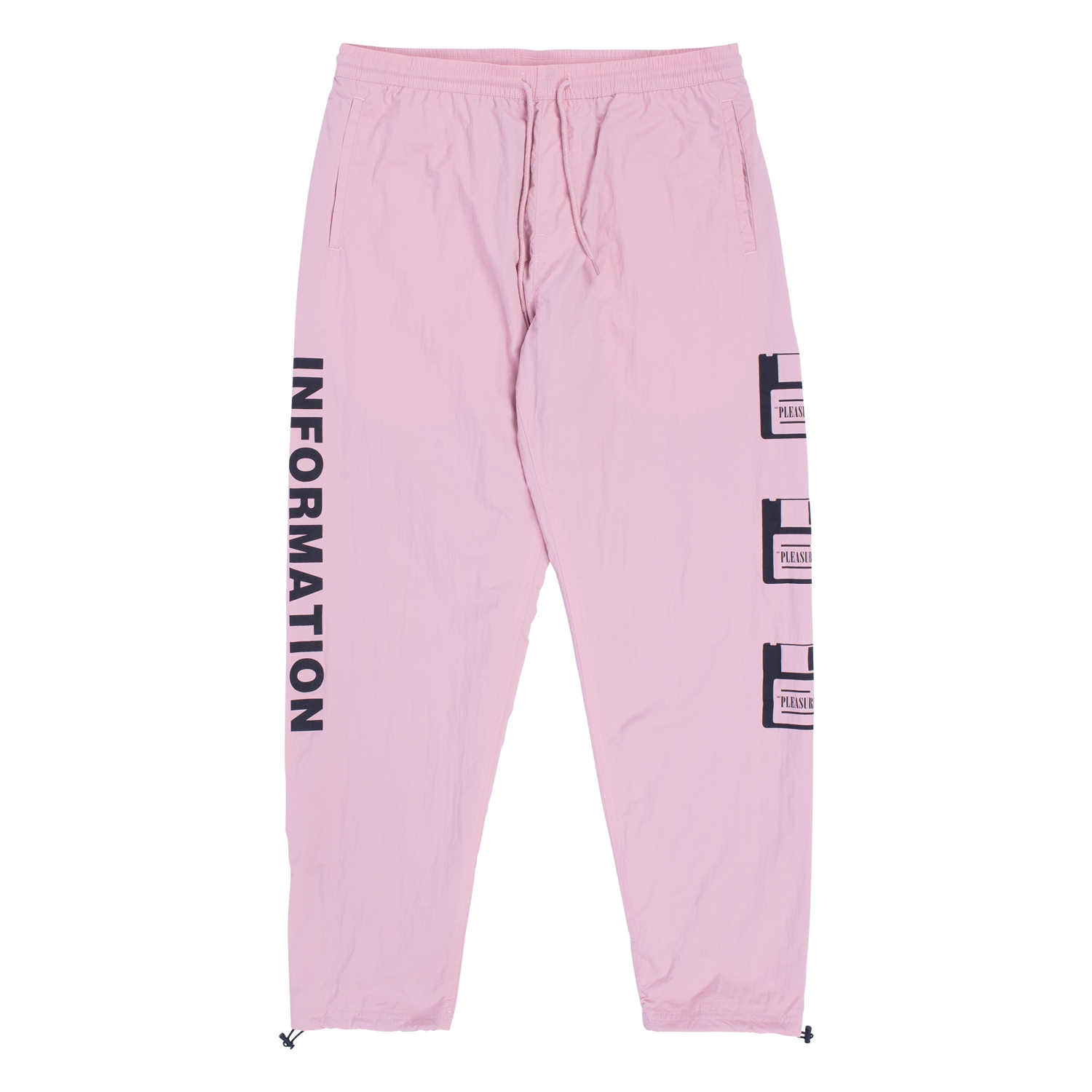 【PLEASURES/プレジャーズ】OVER YOU NYLON TRACK PANT トラックパンツ / DUSTY ROSE
